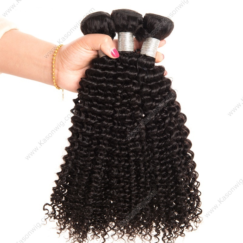 On sale Brazilian Kinky Curly Virgin Hair 3Pcs/Lot 100% Human Hair Weave Bundles Natural Color Hair Weaving Free Shipping