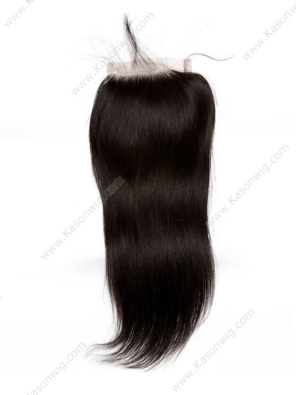 Brazilian Remy Hair Straight Closure 4X4 Lace Closue With Baby Hair Natural Black Color Human Hair Free Shipping
