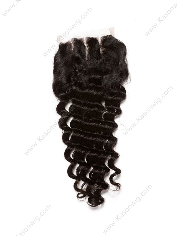 Brazilian Deep Wave Hair Closure Human Hair Closure Free/Middle/3 Part 4*4 Inch Swiss Lace Thick And Full