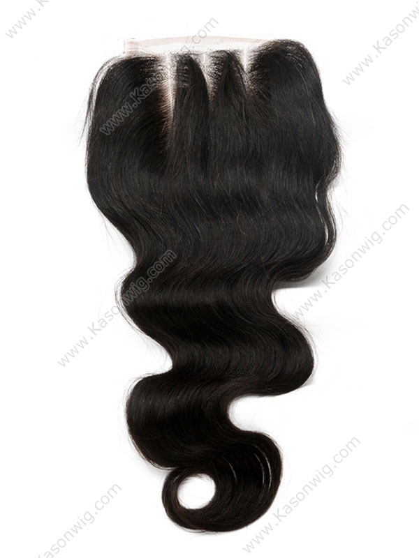 Brazilian Virgin Hair Closures Top Lace Closure Body Wave 4x4 Free/Middle/3 Part Bleached Knots Swiss Lace Closure Free Shipping