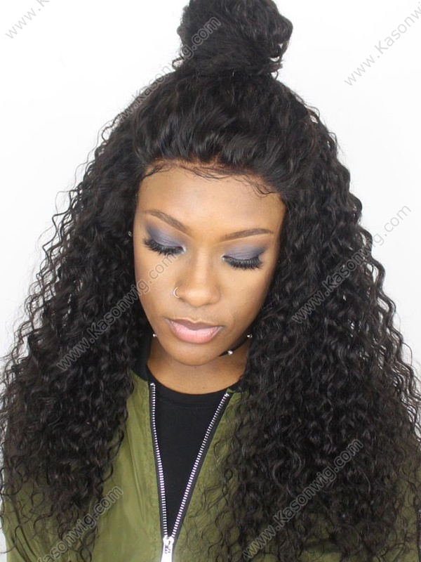 200% Density Lace Front Human Hair Wigs For Black Women Top Quality Virgin Peruvian Curly Hair Wig With Baby Hair