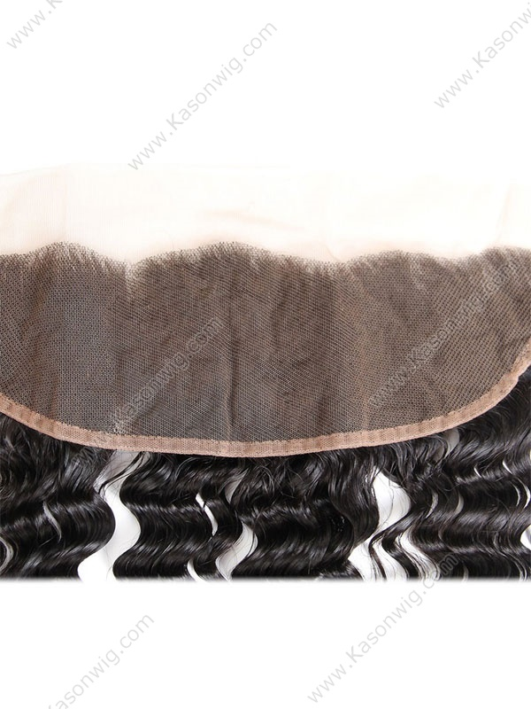 Lace Frontal Closure Brazilian Deep Wave Remy Hair 13*4 Swiss Lace 100% Human Hair Free Shipping