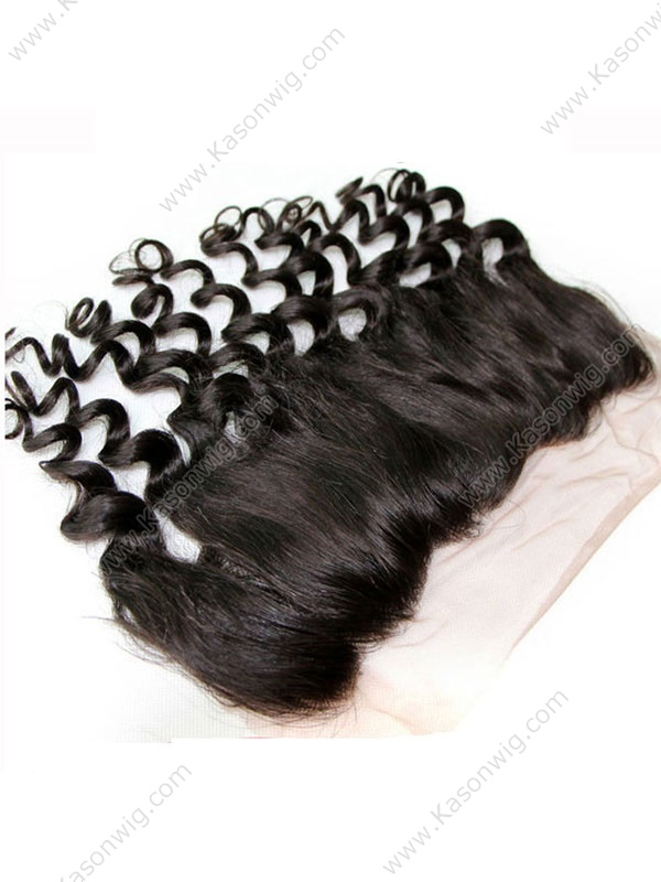 Brazilian Lace Frontal Loose Wave 13x4 Virgin Hair Lace Frontal With Baby Hair Bleached Knots For Black Women