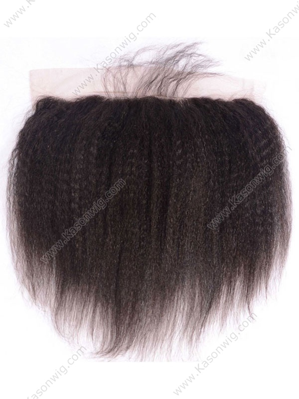 Brazilian Remy Hair Lace Frontal Closure Kinky Straight 13*4 Bleached Knots With Baby Hair 100% Human Hair Shipping Free