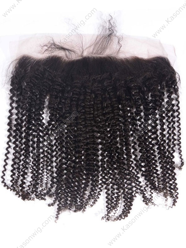 Lace Frontal 8A Grade Brazilian Virgin Hair Kinky Curly Ear To Ear Lace Frontal Closure With Baby Hair Free Shipping