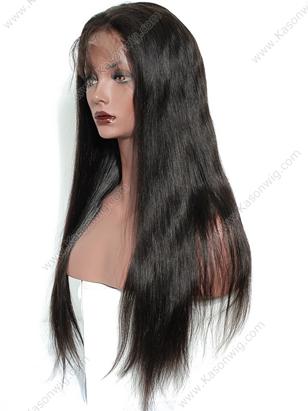 Density 150% Human Hair Wig Unprocessed Remy Peruvian Virgin Hair Lace Front Wig Natural Color Straight Hair Can Be Colord