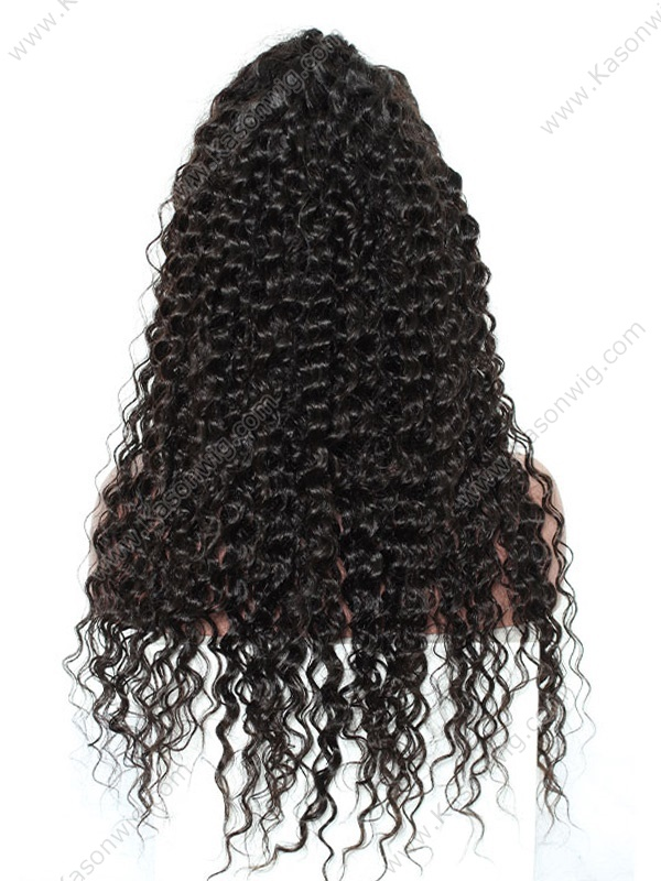 Lace Front Wig Peruvian Virgin Deep Wave Human Hair Lace Front Wigs With Baby Hair 24Inch 150% Density