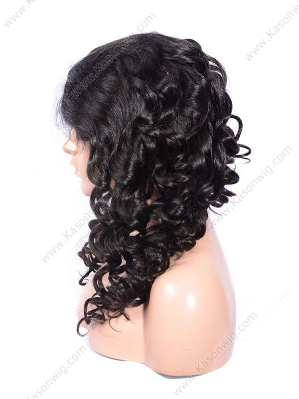 Loose Curly Waves Hair Styles Brazilian Virgin Hair Wigs 100% Human Hair Lace Front Wigs