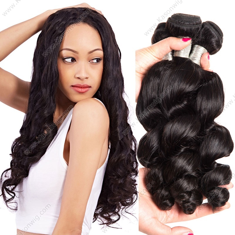 Brazilian Hair Weave Bundles Loose Wave Human Hair Weaving Extensions 3Pcs/Lot Kason Hair Products Natural Color Remy Hair