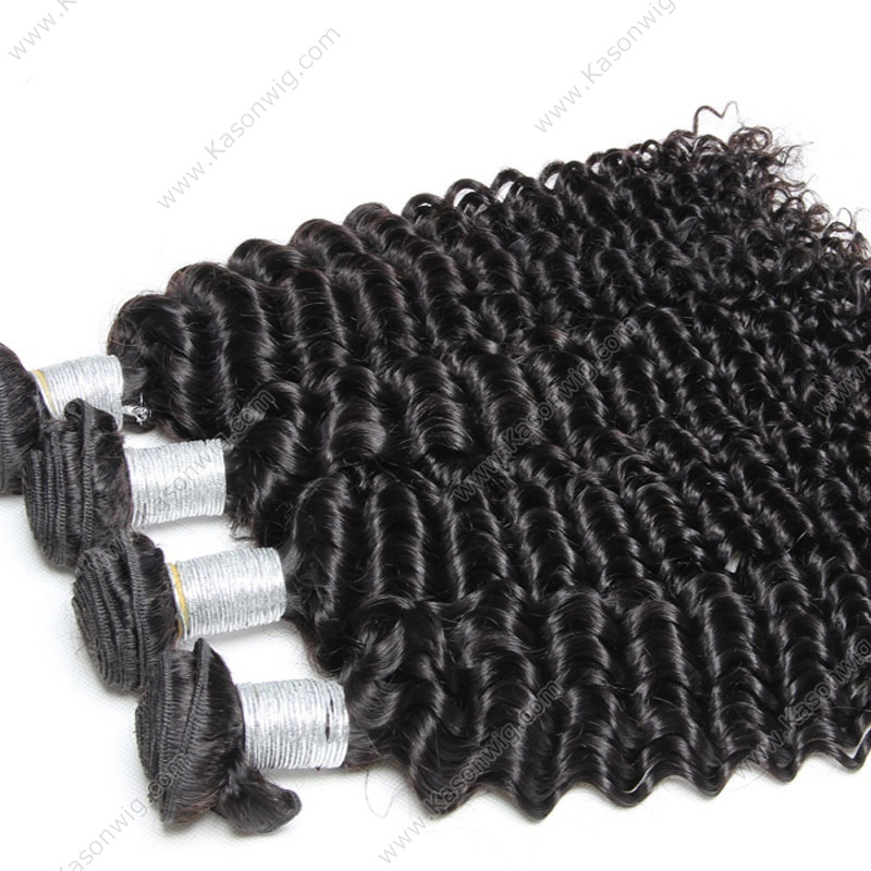 Peruvian Virgin Hair Deep Curly 4 Bundles Best Quality Peruvian Curly Weave 100% Human Hair Bundles Weave