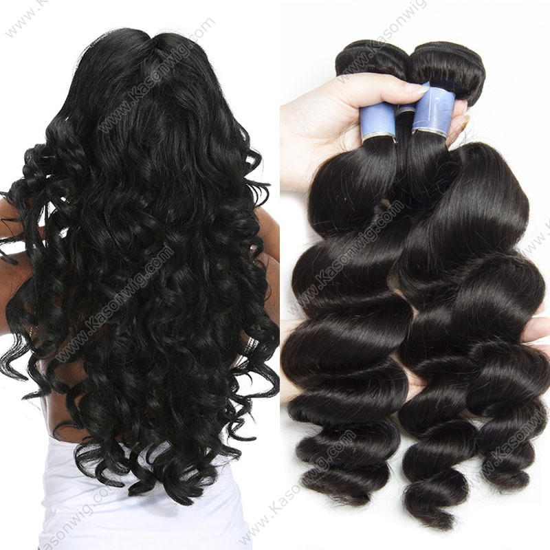 Peruvian Loose Wave Hair Bundles 3Pcs/Lot Peruvian Virgin Hair Natural Color 100% Human Hair Weave Kason Hair Products