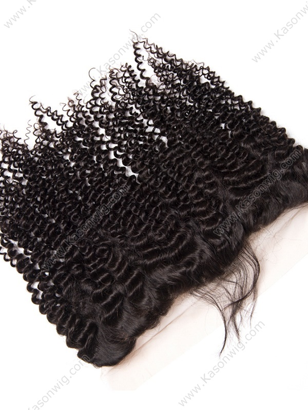 Lace Frontal Closure Kinky Curly Hair 13X4 Peruvian Virgin Hair Lace Frontal With Baby Hair Ear To Ear Lace Frontals Wholesale