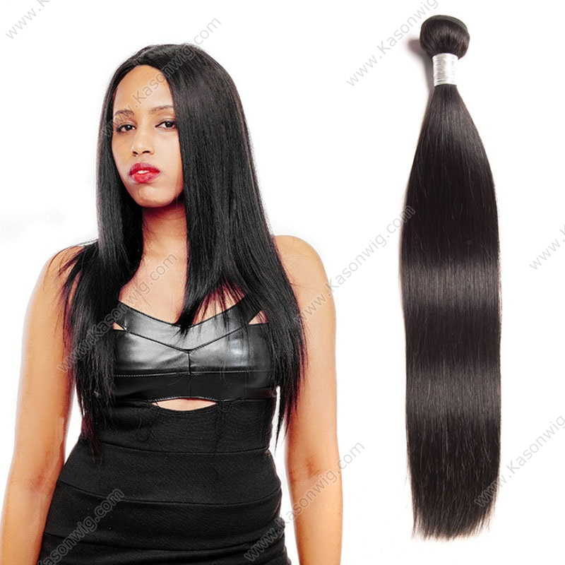 Straight Hair Malaysian Remy Hair Bundles 100% Human Hair Weaving 1PC Natural Color Can Be Permed