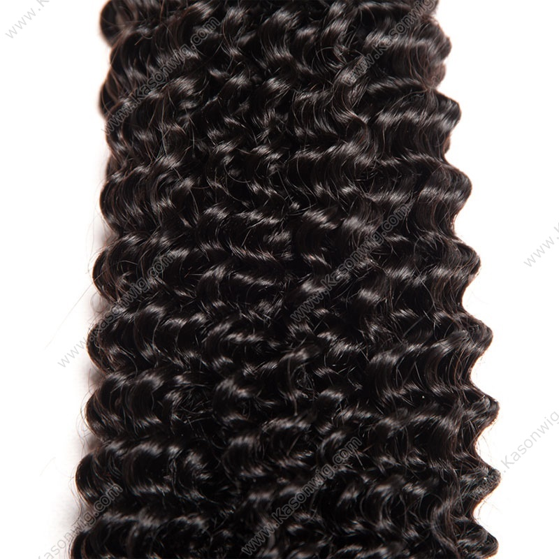 "Kinky Curly Hair Malaysian Hair Weave Bundles Natural Color 100% Remy Human Hair Extensions 3 Pieces 8""-30"""