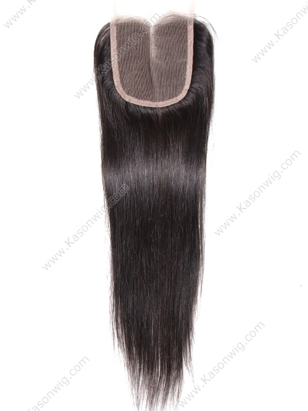 Indian Silk Straight Closure 100% Indian Remy Human Hair Can Be Dyed Free Middle 3 Part Lace Closure Check