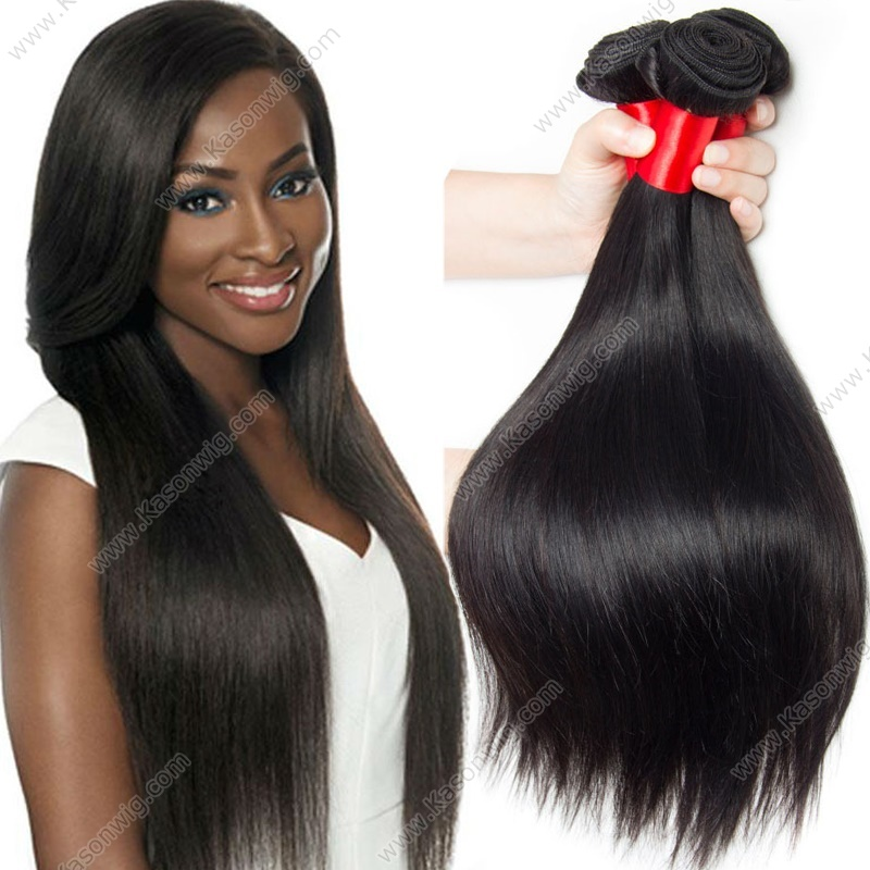 Raw Indian Virgin Hair Straight 3Bundles Human Hair Weave Extension 100% Unprocessed Remy Hair Can Be Dyed