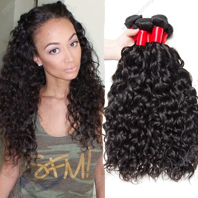 Indian Virgin Hair Natural Wave 4Bundles Indian Water Wave Human Hair Weave Wet And Wavy Unprocessed Remy Hair