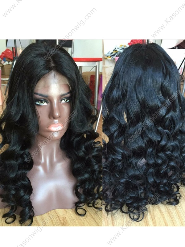Loose Curly Full Lace Human Hair Wigs For Black Women Peruvian Virgin Hair Full Lace Wig 100% Curly Human Hair Wigs