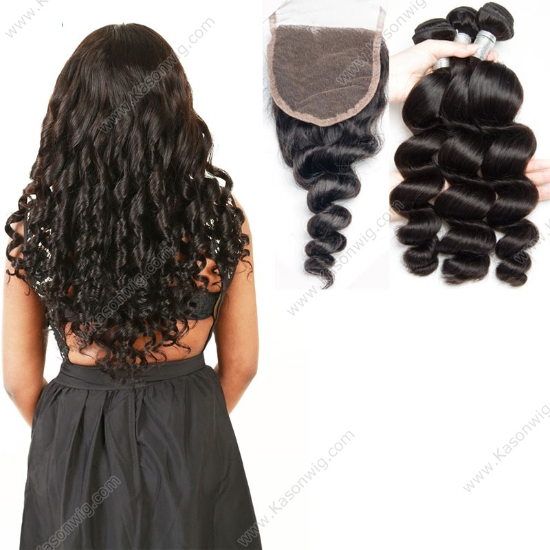 Malaysian Loose Wave Virgin Hair With Closure Malaysian Loose Wave With Closure Malaysian Curly Hair With Closure