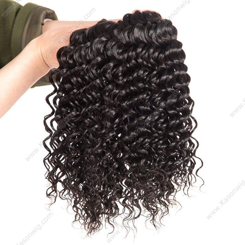 Btazilian Deep Wave Virgin Hair With Closure 3/4 Bundles With Closure 100% Unprocessed Human Hair Weave With Closure