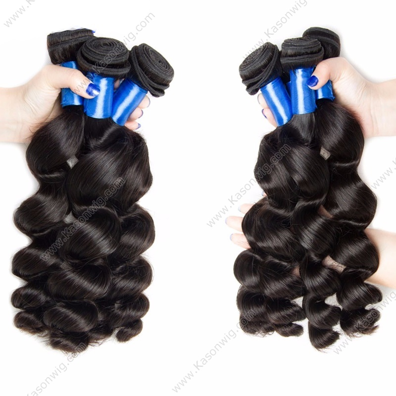 Peruvian Loose Wave Lace Closure With 3 Bundles Hair 100% Human Hair Weave Bundles With Lace Closure Bleached Knots