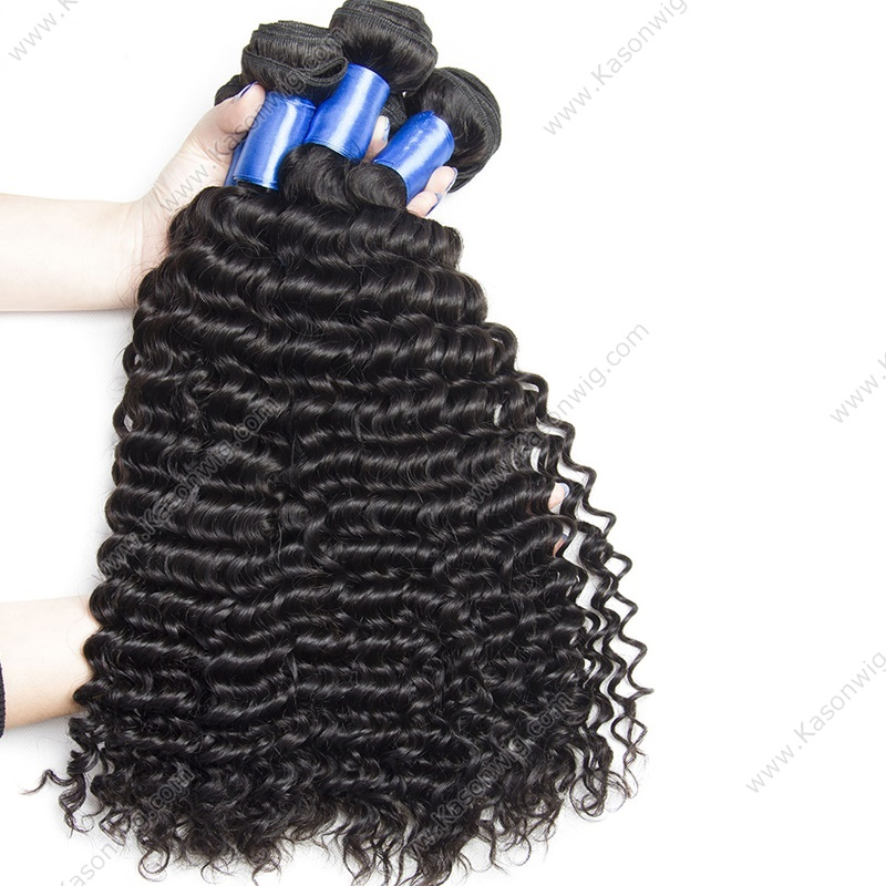 Peruvian Virgin Hair With Closure Deep Curly 4 Bundles Curly Hair With Lace Closure Peruvian Deep Wave Human Hair