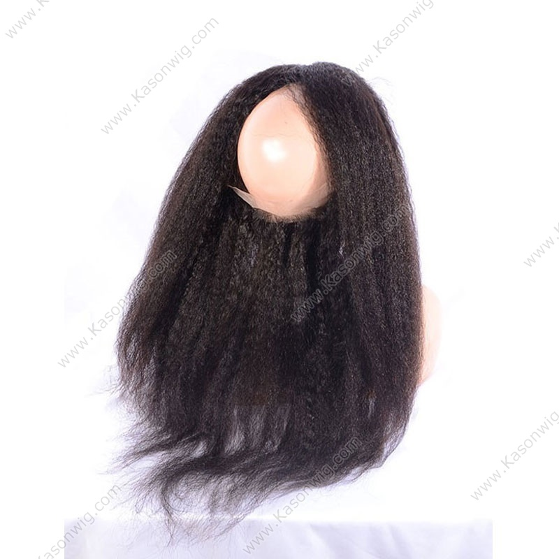 360 Lace Frontal With Bundle Brazilian Kinky Straight Virgin Hair With Frontal Closure 360 Frontal With 3 Bundles With Lace Closure