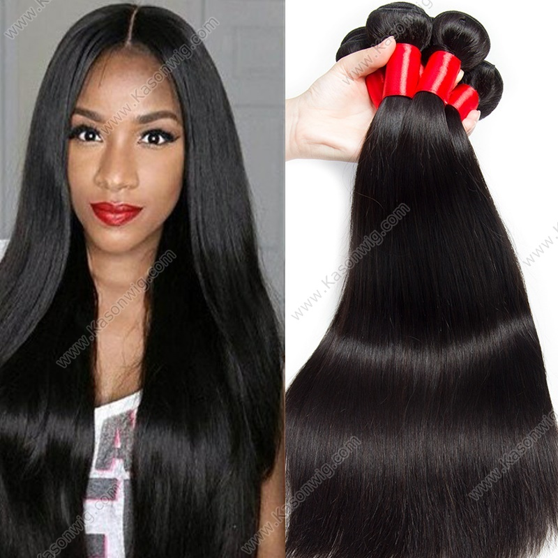 Human Hair Bundles With Lace Closure Indian Straight Hair With Closure Raw Indian Virgin Hair Weave 4 Bundles With Closure
