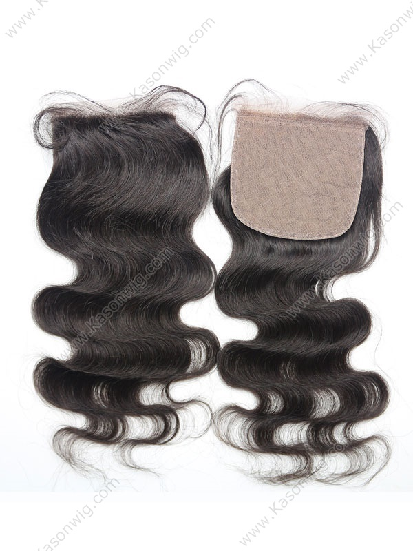 Body Wave Silk Base Closure Brazilian Human Hair 4x4 Silk Closure Free Middle 3 Part Bleached Knots With Baby Hair