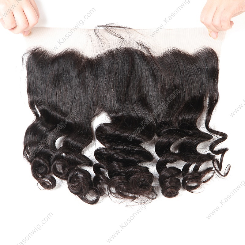 Loose Wave Hair Frontal With Bundles Top Grade Raw Indian Human Hair Lace Frontal Closure With Bundles Free Shipping