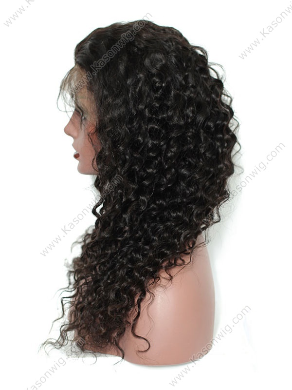 Deep Wave 360 Lace Frontal Wigs Pre Plucked 130% Density Brazilian Remy Hair Natural Color 100% Human Hair Wig