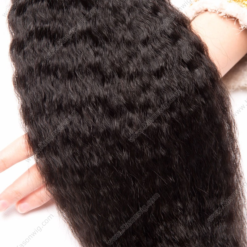 4Pc/Lot Human Virgin Hair 3Pcs Brazilian Virgin Hair Kinky Straight With 1 Piece Silk Base Closure Free shipping