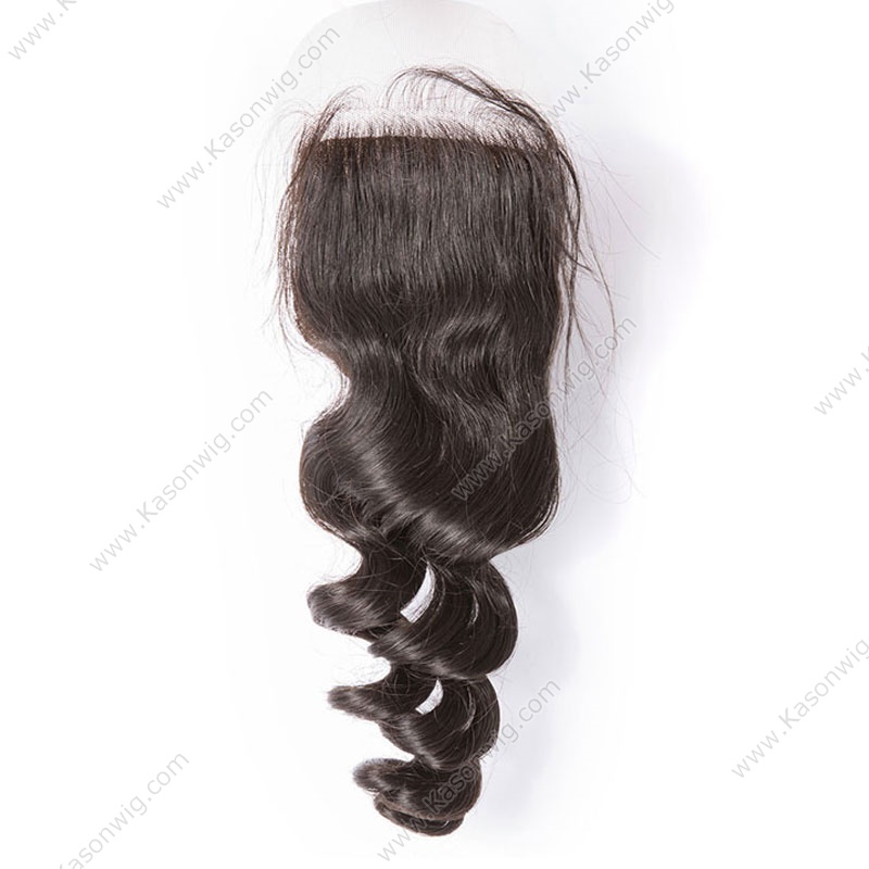 Grade 8A Brazilian Virgin Hair Loose Wave With Silk Base Closure 2 Hair Bundles With Lace Closures Cheap Human Hair With Closure