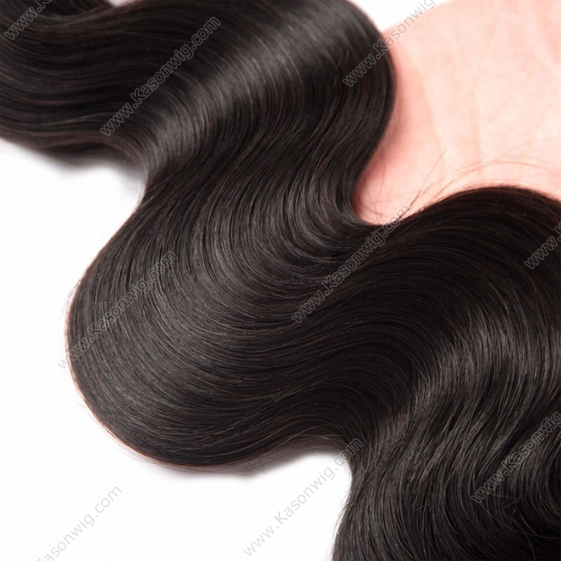 Silk Base Closure With Bundles Brazilian Virgin Hair Body Wave 3Pc Lot 1Pc Middle/Free/3 Part Silk Closure With Bundles 8A