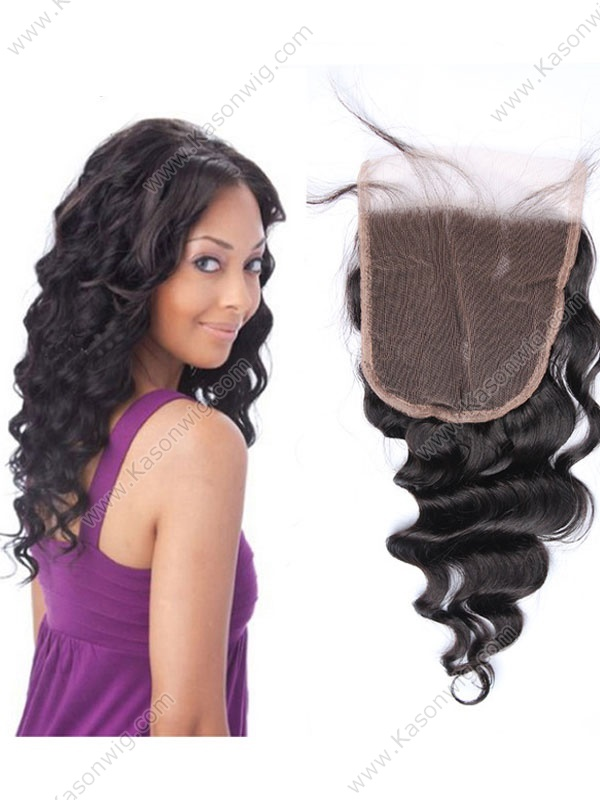 5X5 Brazilian Virgin Hair Closure 8A Brazilian Loose Wave Lace Closure Bleached Knots Loose Wave
