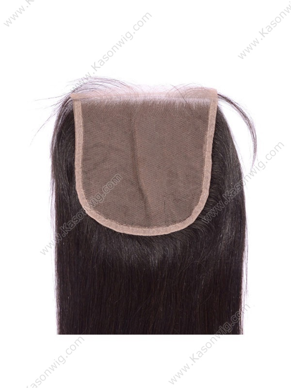 Unprocessed Brazilian Virgin Hair Straight Natural Color Bleach knots 5x5 Lace Closure With Baby Hair Free Shipping