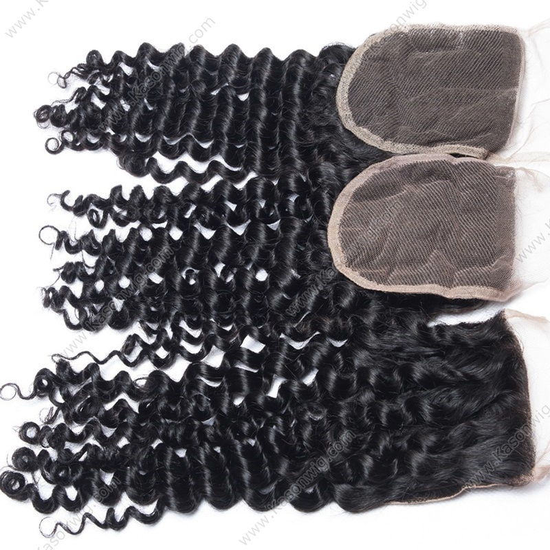 Indian Virgin Hair 4 Bundles With Closure Top Grade Deep Wave With Closure Mink Indian Remy Human Hair Bundles With Closure