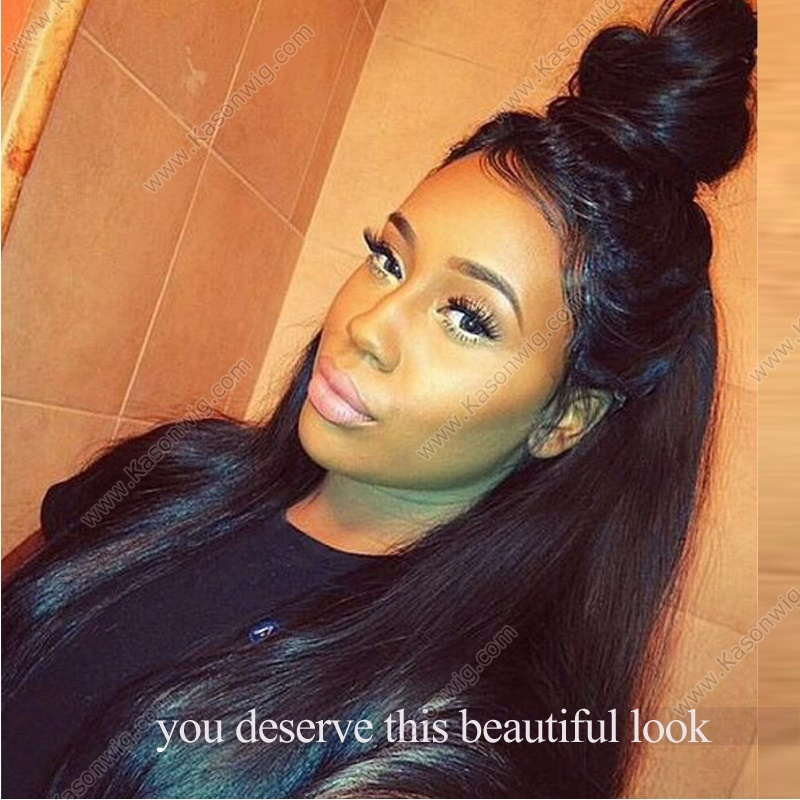 Peruvian Virgin Hair 360 Lace Frontal Closure With Bundles Peruvian Straight Hair Pre Plucked 360 Frontal With 3Bundles Human Hair