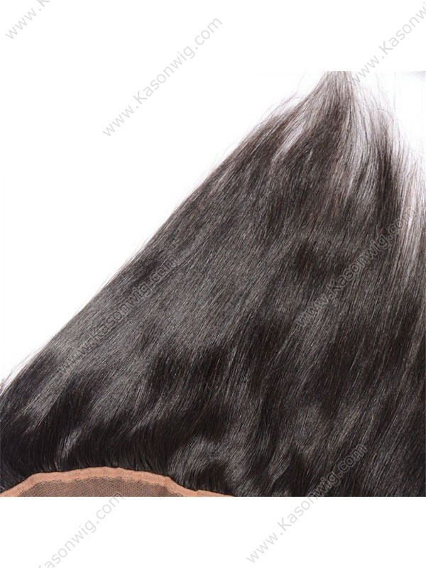 Straight Silk Base Frontal Bleached Knots 13x4 Ear to Ear Silk Lace Frontal Closure with Baby Hair Remy Human Hair