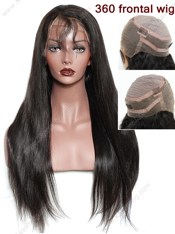 360 Lace Frontal Wig Peruvian Virgin Hair Lace Front Human Hair Wigs Straight Human Hair Lace Front Wigs Black Women