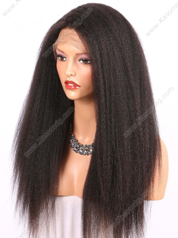 Peruvian 360 Lace Front Human Hair Wigs Kinky Straight Hair Human Hair Lace Front Wigs Black Women 360 Lace Frontal Wig