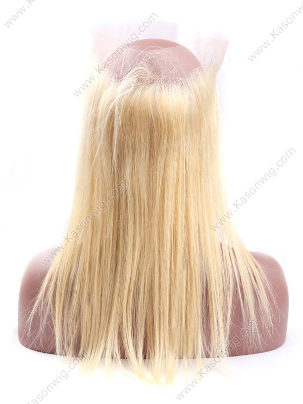 Blonde 360 Lace Frontal Straight Pre Plucked 613# 360 Lace Frontal Natural Hairline 360 Lace Virgin Hair Frontals With Baby Hair