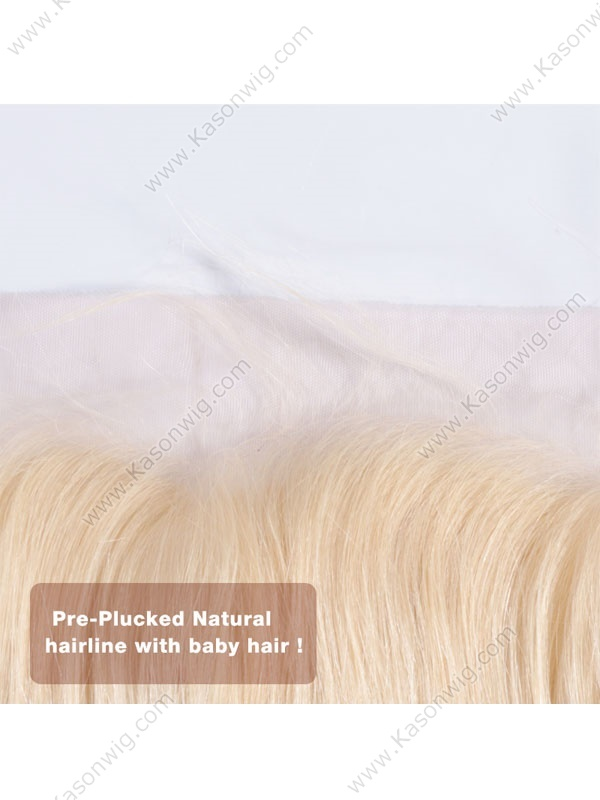 Blonde Body Wave Brazilian Hair Closure Swiss Lace Rmey Human Hair 360 Lace Frontal Adjustable Straps Free Shipping