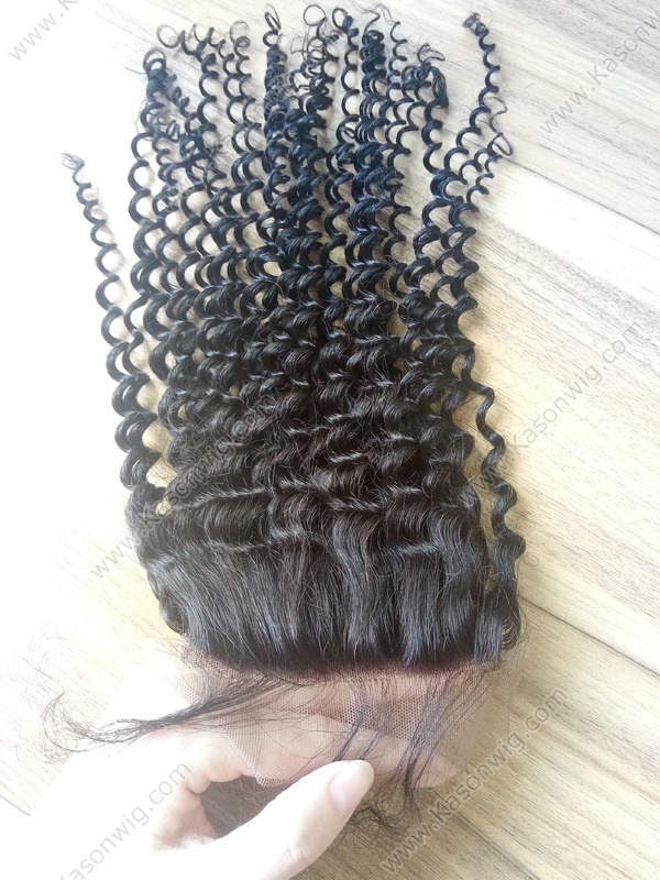 Peruvian Kinky Curly Silk Top Closure Kinky Straight Silk Base Closure Peruvian Virgin Human Hair Closure Free Middle 3 Part In Stock