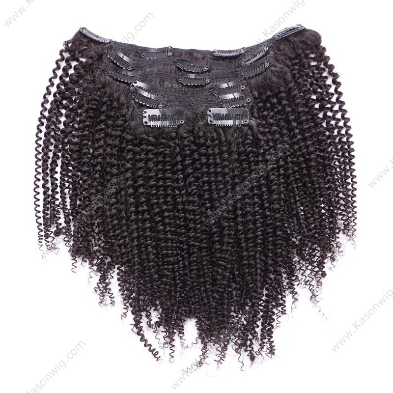 Kinky Curly Clip In Human Hair Extensions Peruvian Human Full Smaller Tight Kinky Curly Clip In Extensions For Black Women African American