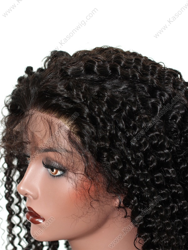Kason Kinky Curly 360 Lace Frontal Wig Unprocessed Peruvian Human Hair Afro Kinky Curly Lace Front 360 Hair Wig Natural Hairline